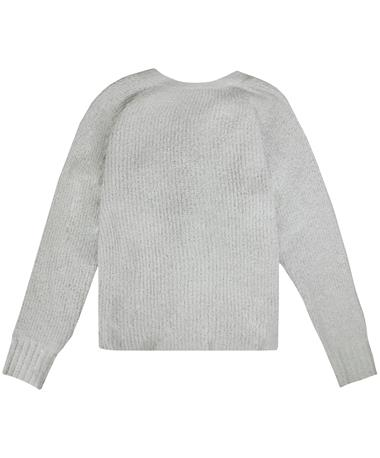 Rag Poets San Remo Twist Back Sweater - Front HEATHER GREY