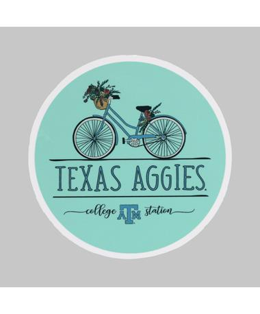 Texas A&M Aggies Floral Bike Dizzler Sticker