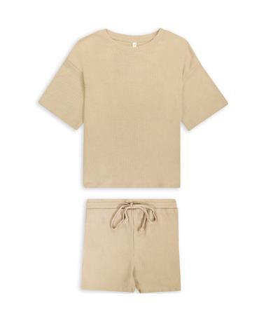 Ribbed Top & Shorts Set