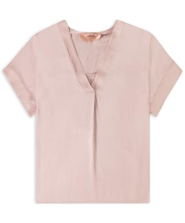 Light Pink Short Sleeve V-Neck Shirt