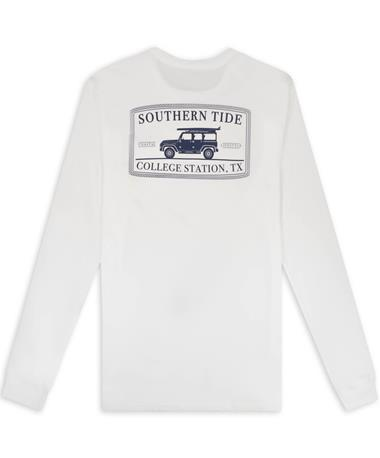 Southern Tide Retro Truck Original Skipjack Pocket Long Sleeve T-Shirt