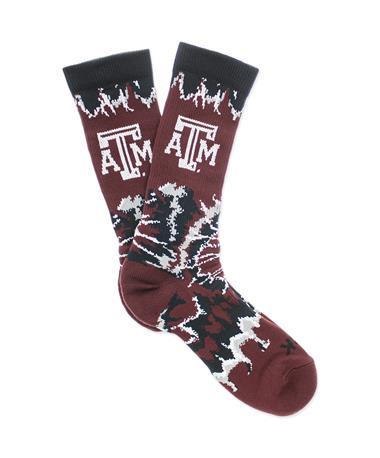 Texas A&M Woodstock Tie Dye Socks
