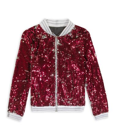 Maroon & Silver Sequin Jacket