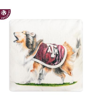 Texas A&M Aggie Reveille Pillow