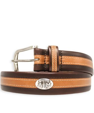 Texas A&M Zeppelin Two-Tone Tubular Belt