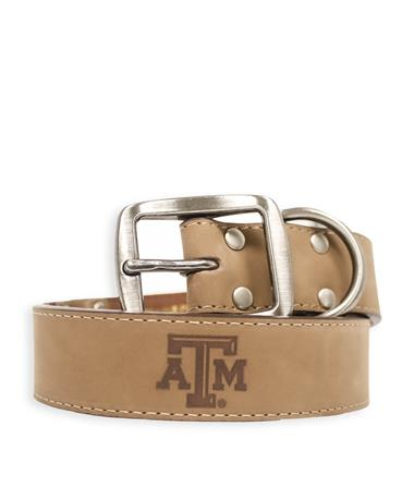 Texas A&M Zeppelin Crazy Horse Leather Dog Collar