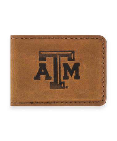Texas A&M Zep-Pro Leather Money Clip