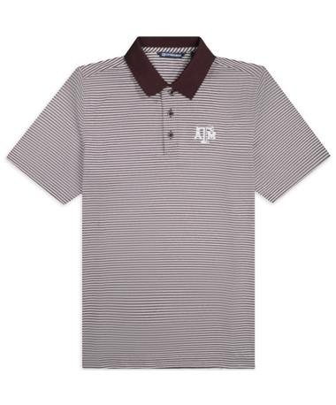 Texas A&M Cutter & Buck Forge Tonal Stripe Polo