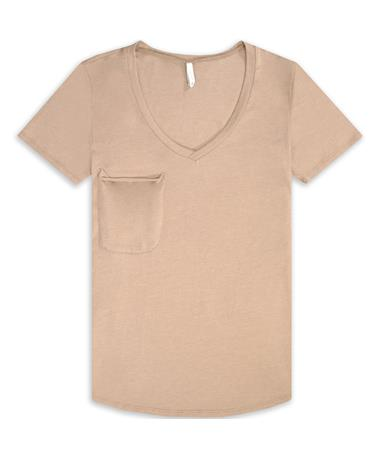 Z Supply The Pocket Tee - Taupe - Front Taupe
