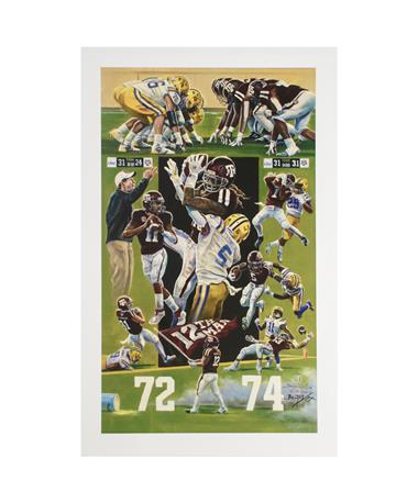 Texas A&M Benjamin Knox 72-74 Print MULTI