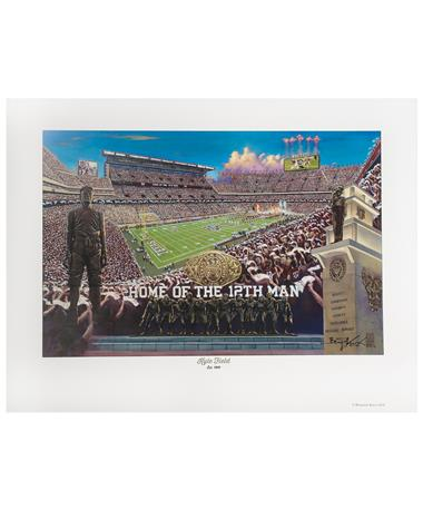 Texas A&M Benjamin Knox New Kyle Field Print MULTI