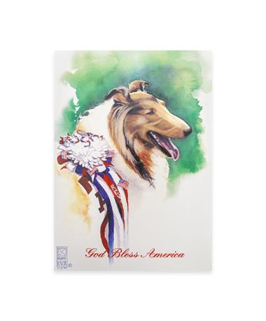 Benjamin Knox Patriotic Reveille Single Note Card - Front MULTI
