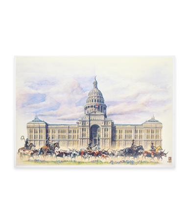 Benjamin Knox Texas State Capitol Single Note Card - Front MULTI