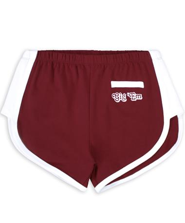 Maroon Gig 'Em French Terry Shorts