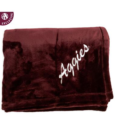 Texas A&M Aggies Soft Maroon Blanket