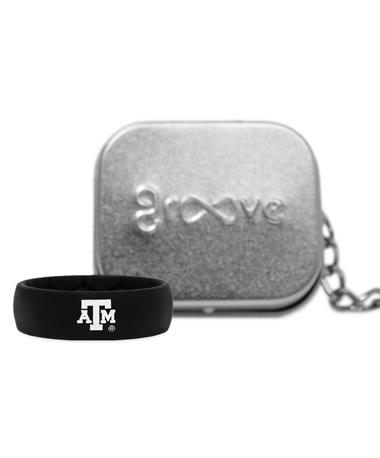 Texas A&M Groove Black Thick Band ATM Logo Black