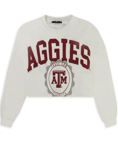 Texas A&M Aggies Raw Hem Cropped Jersey