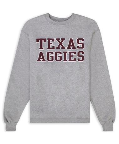 Texas A&M Texas Aggies Gray Powerblend Crewneck