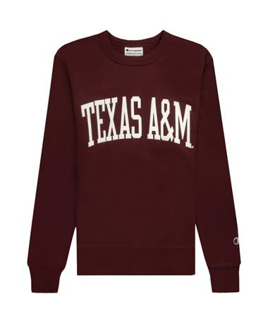 Texas A&M Champion Felt Rochester Fleece Crewneck