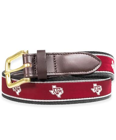 Texas A&M Vineyard Vines Club Canvas Lone Star Belt