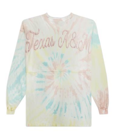 Texas A&M Tie Dye Pastel Rainbow Spirit Jersey