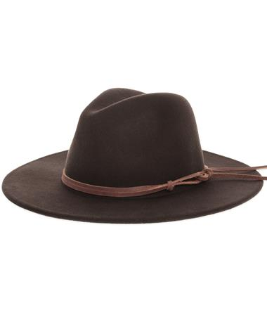 Wyeth Billie Dark Brown Fashion Cowgirl Hat