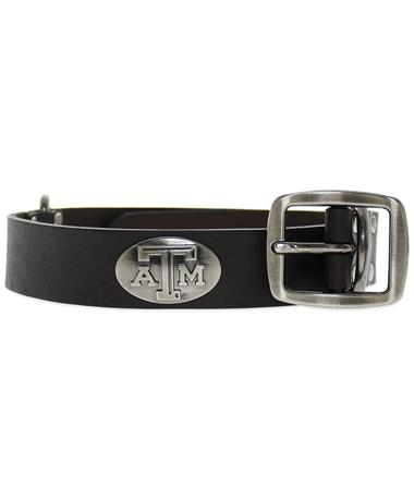 Texas A&M Leather Concho Dog Collar BROWN