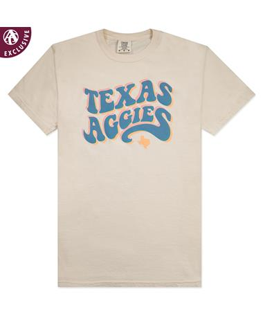 Texas A&M Aggies Fuzzy Bubble Letter T-Shirt