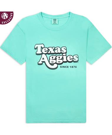 Texas A&M Aggies Chalky Mint Bubble Letters T-Shirt