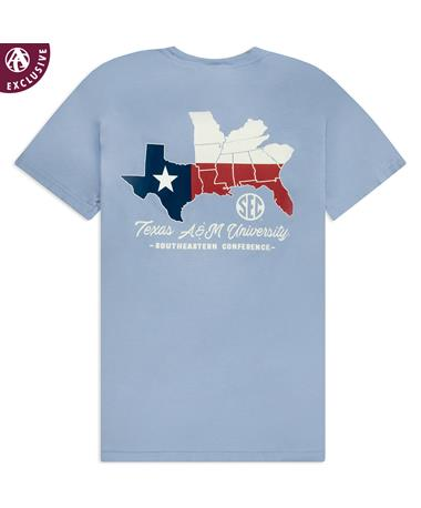 Texas A&M Southeastern Conference States T-Shirt