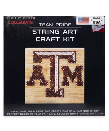 Texas A&M Beveled ATM String Art Craft Kit