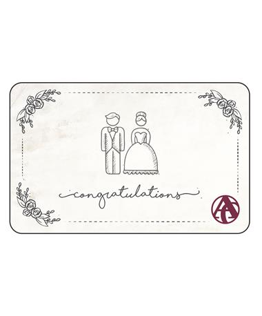 Aggieland Outfitters Wedding Congratulations E-Gift Card