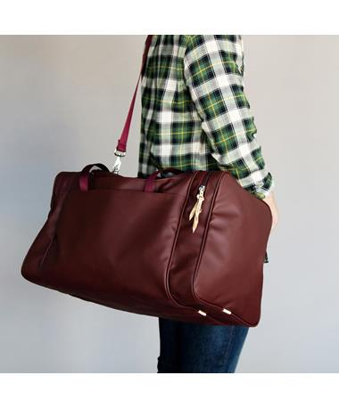 Maroon Jon Hart Texas Large Square Duffle Bag