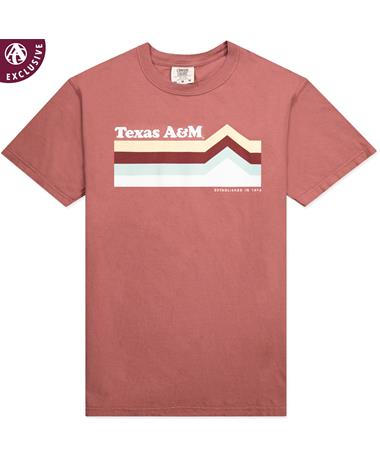 Texas A&M Multi-Colored Mountain Peak T-Shirt
