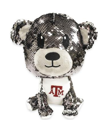 "Texas A&M 9"" Sequin Bear Plush Toy"