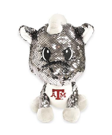 "Texas A&M 9"" Sequin Unicorn Plush Toy"