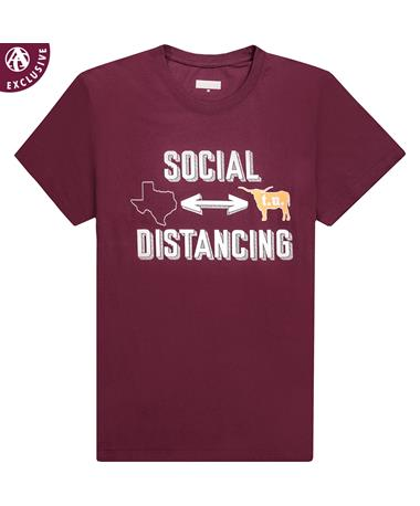 Maroon Social Distance From t.u. T-Shirt