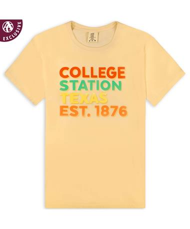 Ivory Bold College Station T-Shirt