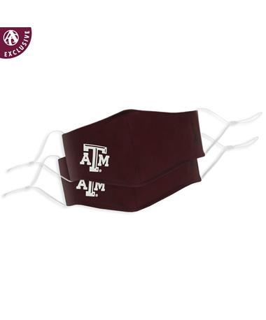 Texas A&M Maroon Polyester Face Mask Pack-of-2