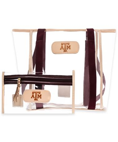 Texas A&M Jon Hart Maroon Tourney Tote & Clear Pouch