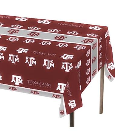 Texas A&M Plastic Table Cover