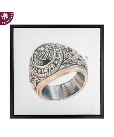 Texas A&M Aggie Ring Framed Canvas