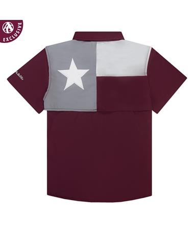 Texas A&M Youth Performance Flag Fishing Shirt