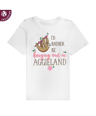 Texas A&M Sloth Hanging Out in Aggieland Youth T-Shirt