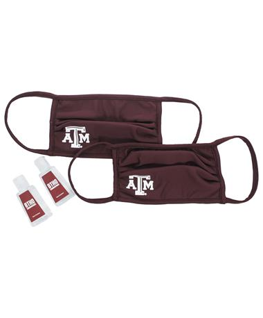 Texas A&M Polyester Mask and BTHO Coronavirus Sanitizer Bundle