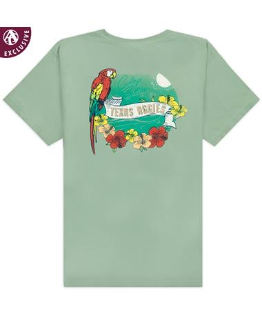 Texas A&M Aggies Tropical Parrot T-Shirt