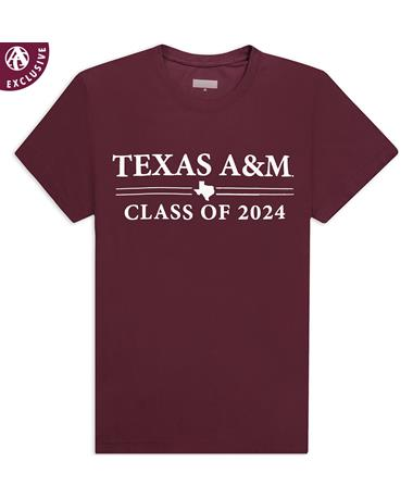 Texas A&M Double Bar Class of 2024 T-Shirt