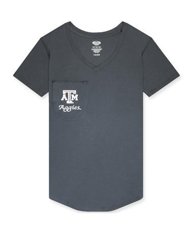 Texas A&M Aggies Ladies Pocket V-Neck Tee