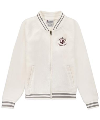 Texas A&M Champion Women's Sherpa Bomber Jacket