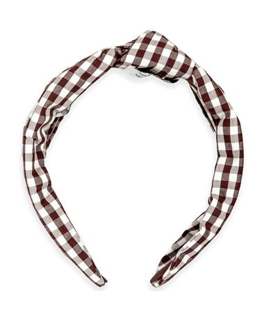 Texas A&M Plaid Knot Gingham Headband